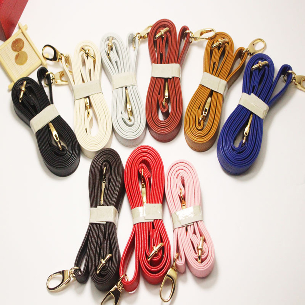 Women PU Crossbody Shoulder Bag Handle Strap Ladies DIY Solid Color Purse Bag Belts Metal Button Strap Accessories
