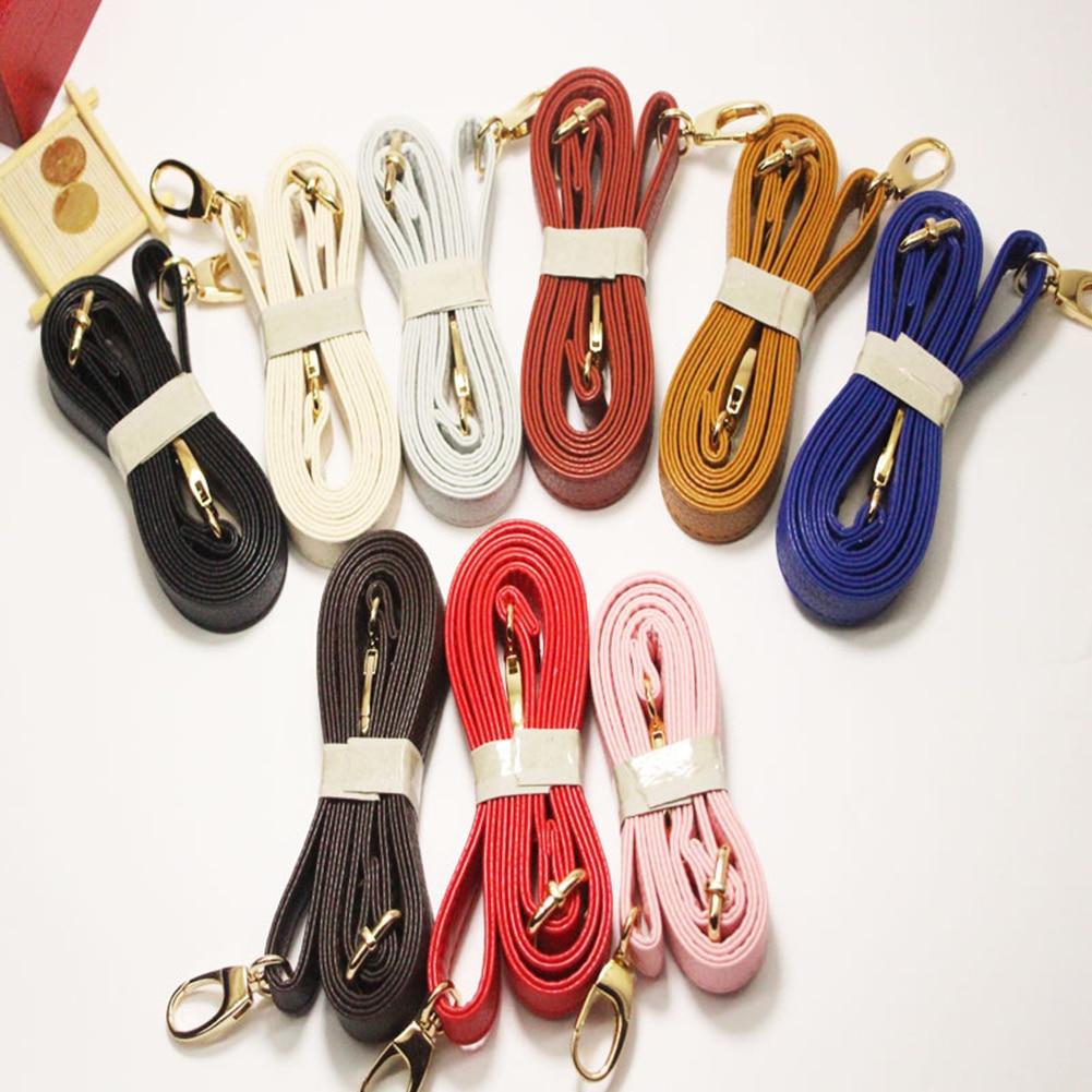 Women PU Crossbody Shoulder Bag Handle Strap Ladies DIY Solid Color Purse Bag Belts Metal Button Strap Accessories