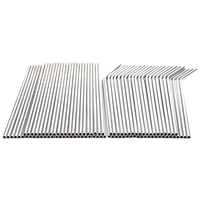100 palhas de metal dos pces podem ser reutilizadas 304 tubos de água potável de aço inoxidável 215mm x 6mm canudos curvados e 50 canudos retos|null|Casa e Jardim -
