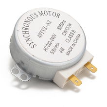 Synchronous Motor 49TYZ-A2 Model AC 220-240V CW/CCW 4W 4 RPM for Microwave Oven With 2 Pin Terminals