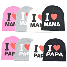 Cute Kids Cap  I love mom dad children hat Little cute baby beginner walking Boy and girl warm lamb headgear