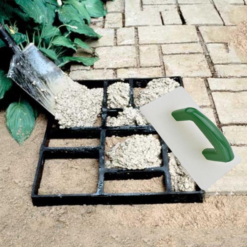 Tuin Bestrating Mal Cement Bepleistering Tegel Hand Schraper Afwerking Troffel Mes Metselaar Schraper Modder Board Schrapen Tegel