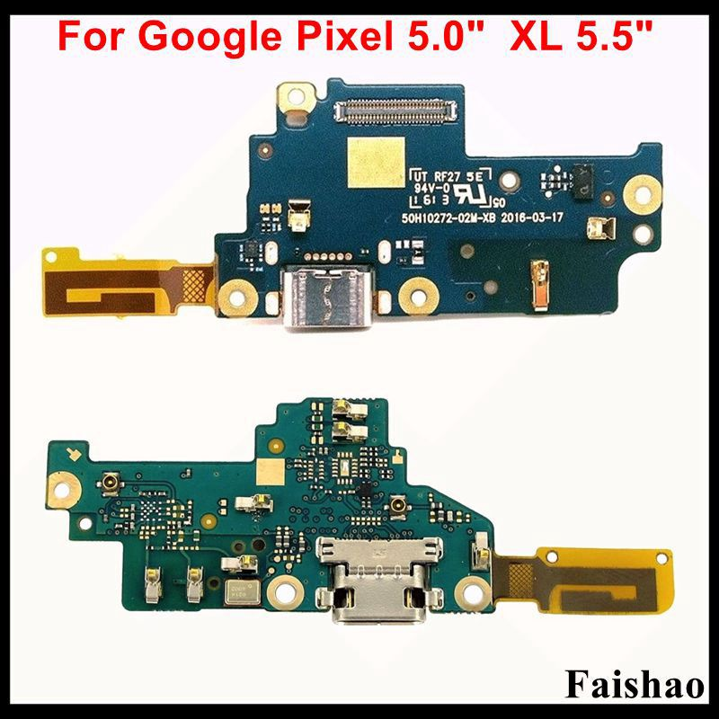 FaiShao USB Charging Port Connector Dock Charge Board With Microphone Flex Cable For Google Pixel 5.0