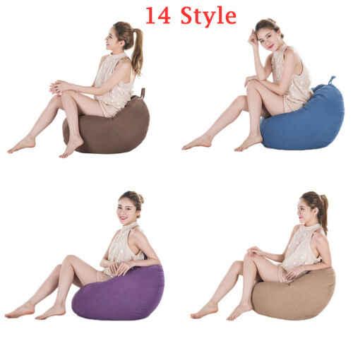 Extra Grande Saco De Feijão Cadeiras para Adultos Crianças Sofá Cobrir Sofá Interior Espreguiçadeira Preguiçoso