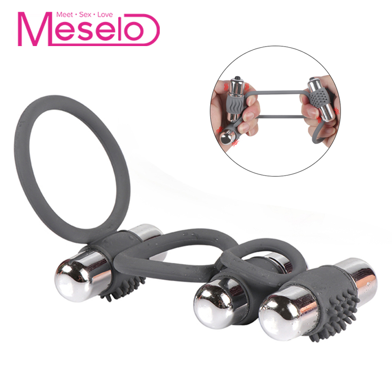 Meselo Three Cockring Vibrator For Penis Trainer Rings Gay Sex Toys For Men Masturbatings Erotic Adult Toys Male Masturbator NewMeselo Three Cockring Vibrator For Penis Trainer Rings Gay Sex Toys For Men Masturbatings Erotic Adult Toys Male Masturbator New