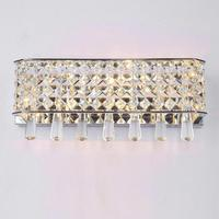 Indoor Large Crystal Wall Lamp for Apliques Living Room Gold/silver Wall Light Arandela Bedside G4 Led Wall Sconce Fixtures