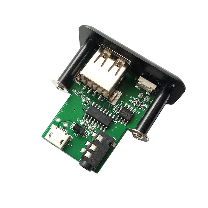 Kids Lab DIY Song Module Mini MP3 Decoder Audio Decoding Board 3.5mm Earphone Plug For Use Support WAV U-Disk TF Card USB magnetic attraction bluetooth earphone headset waterproof sports 4.2