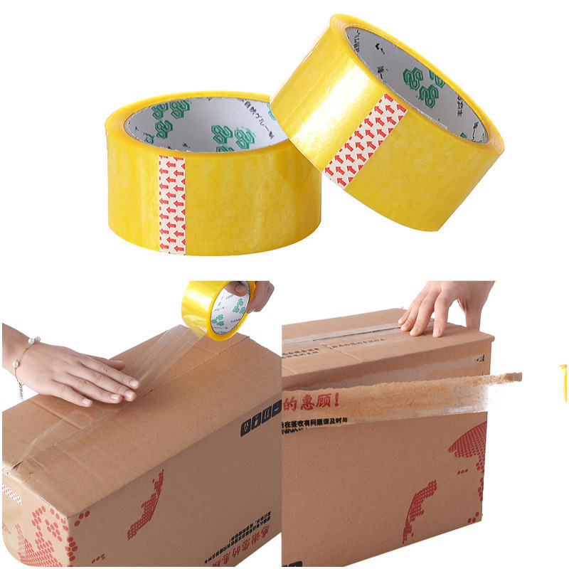 Thick Wide Transparent Tape Packing Express Transparent Seal Box With Wide Bandwidth And Large Roll Of Rubber For Office Supplie
