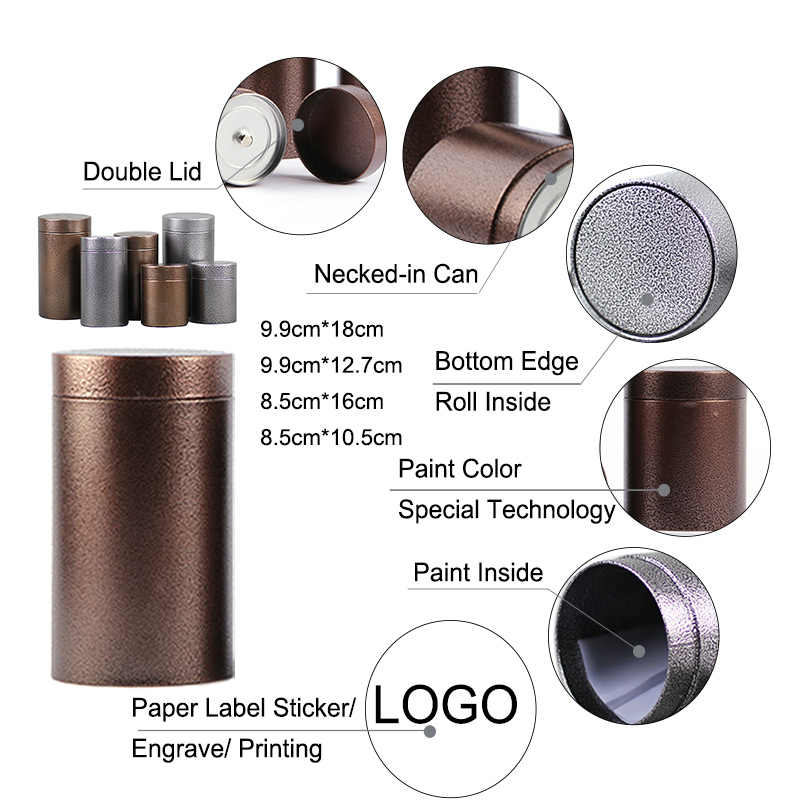 Xin Jia Yi Packaging Metal Box 20cm Height Large Cylinder Coffee Tea Gift Set Storage Case Set Package