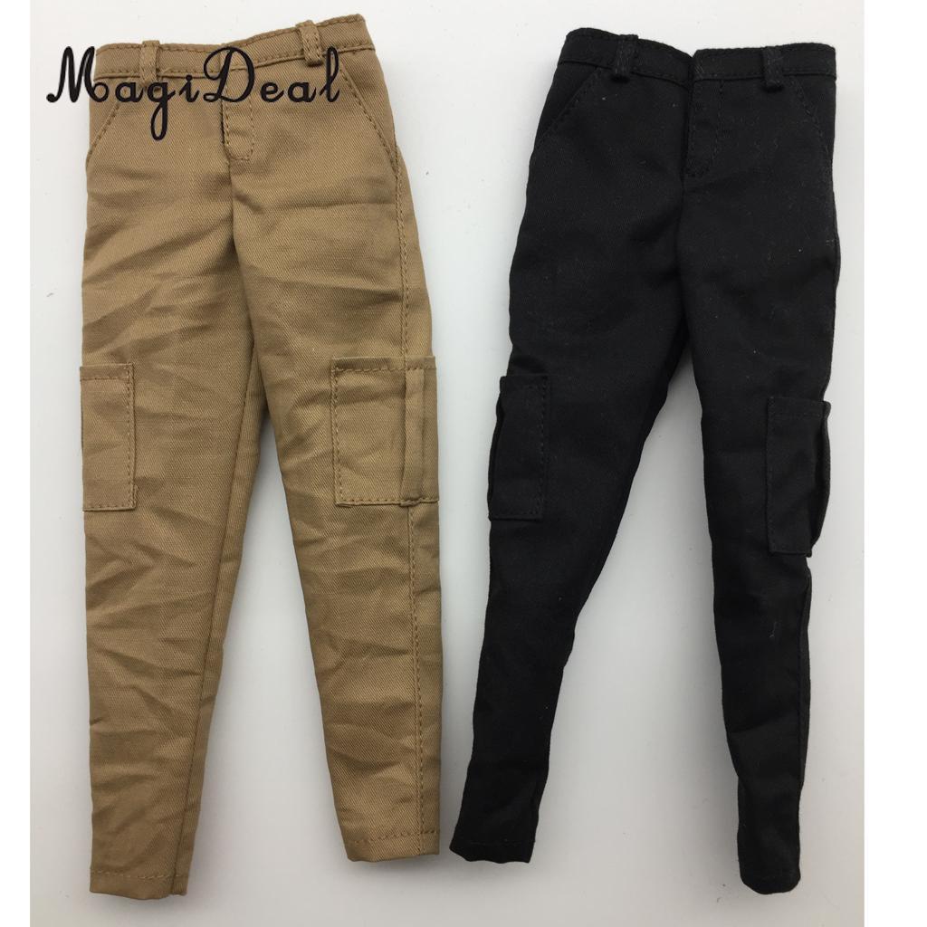 1//6 Black Vest Combat Pants Belt Set For 1//6 Muscular Male Figure Doll Hot Toys
