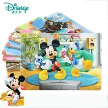 Disney 30 Stück Prinzessin Gefrorene Mickey Holz Box Puzzle Frühen Bildung Kinder Bottom Box Puzzle Spielzeug Für Kinder