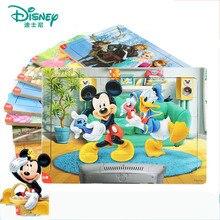 Disney 30 sztuka księżniczka mrożone Mickey drewniane puzzle w pudełku wczesna edukacja dzieci dno puzzle w pudełku zabawki dla dzieci