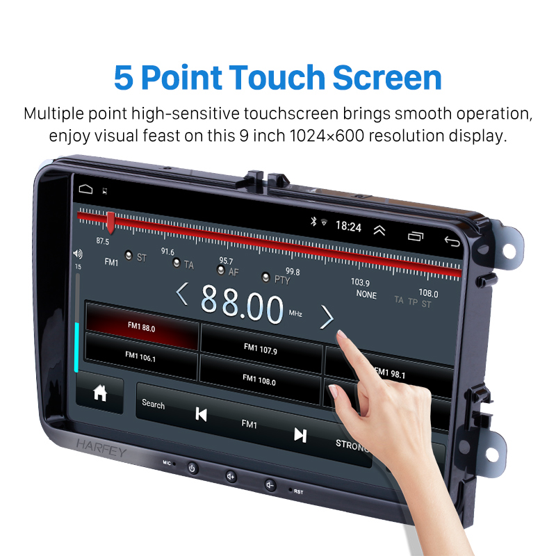 Image 3 - Harfey Android 8.1 2Din For VW/Volkswagen/Golf/Polo/Tiguan/Passat/b7/b6/leon/Skoda/Octavia car Radio GPS Car Multimedia player-in Car Multimedia Player from Automobiles & Motorcycles