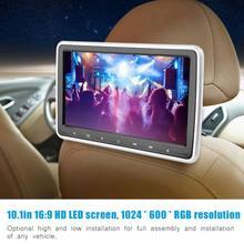 10.1in TFT HD Автомобильный подголовник dvd-плеер клип-на портативный цифровой монитор подушки подголовник монитор цифровой экран сенсорная кнопка