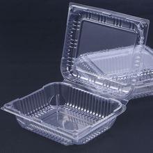 30 шт одноразовые коробки с прозрачной откидной крышкой, пластиковые контейнеры для еды на вынос для десертов, фруктов, овощей-17,5x14,3x6 см