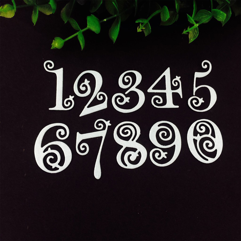 Embossing Album <font><b>Stamp</b></font> Christmas <font><b>Dies</b></font> Background Paper Card Number <font><b>Halloween</b></font> Gift DIY Scrapbooking Metal Cutting <font><b>Dies</b></font> Stencils image