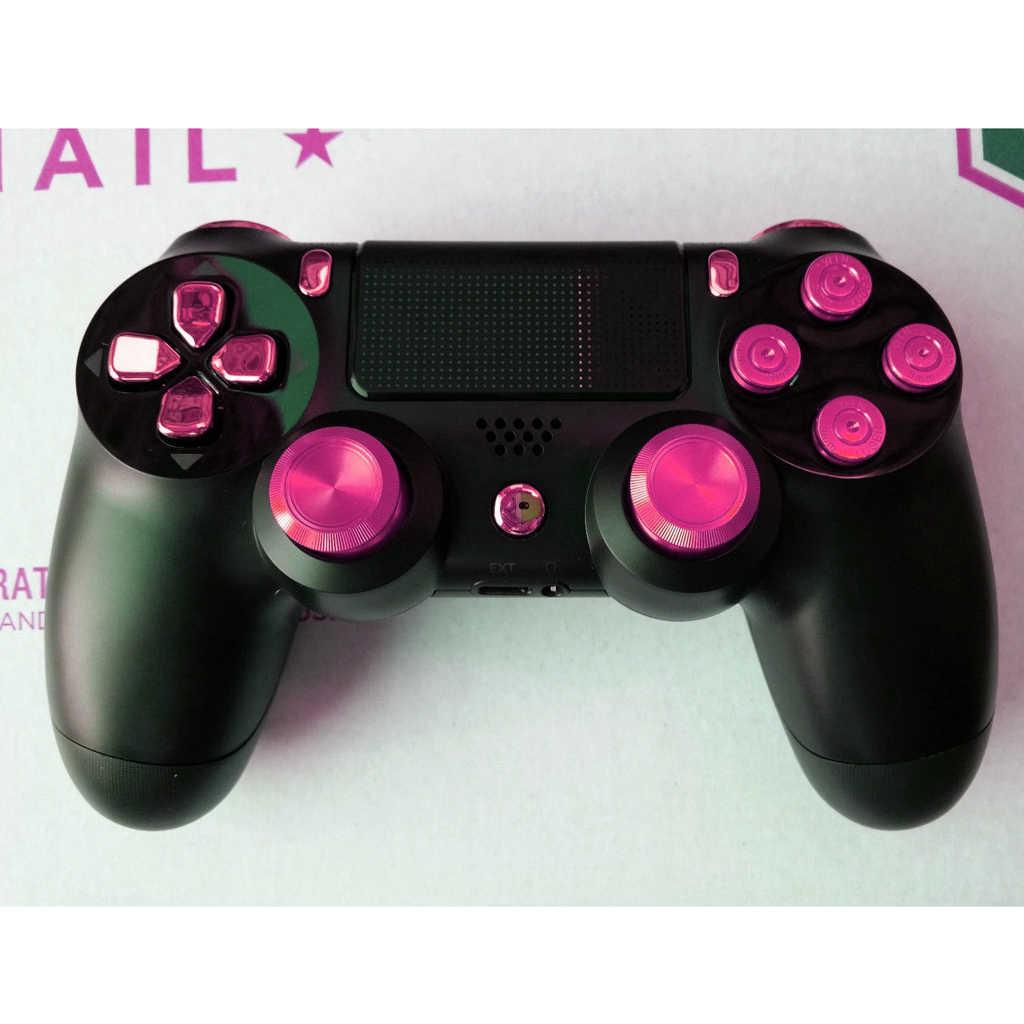 De Metal mando análogo de joystick para PlayStation 4 Xbox un controlador rosa