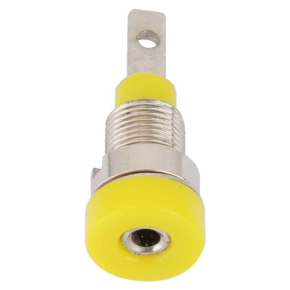 Konektor 10 шт. 2 мм медная розетка панель проводов терминал разъем банана желтый разъем usb