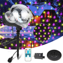 ZINUO IP65 Waterproof LED Snowfall Laser Projetor Light With Stars/Hearts Pattern Show Effect Outdoor Christmas Projector