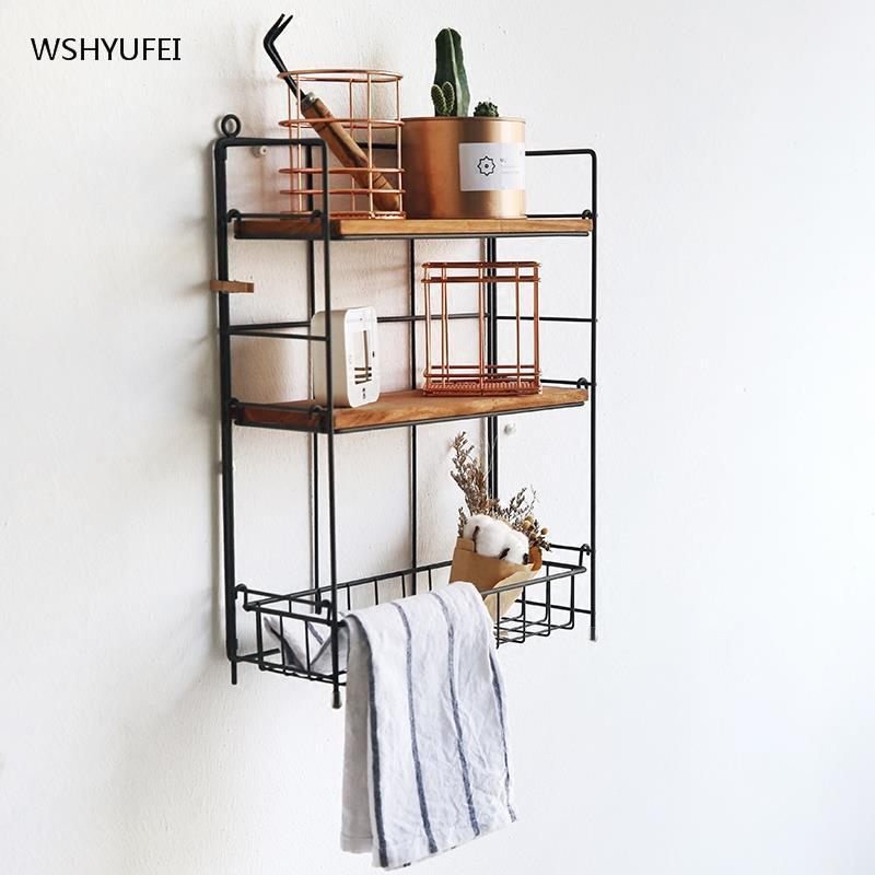 Rétro mural ou comptoir 3 niveaux étagère en métal Rack avec panier réglable niveaux organisateur Rack afficheur de bureau Rack