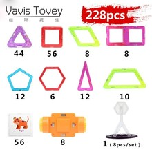 Vavis Tovey Mini 3D DIY Kids Toys Educational Magnetic piece Designer Models Creative Construction Enlighten Building Toy Gifts