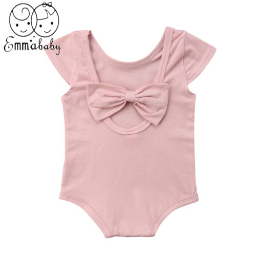 2019 Brand New Newborn Baby Girl Kid Cute Princess Bowknot Romper Toddler Summer Clothes Outfit