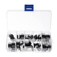 50 штук, 10 видов значений 5 каждый LM317T L7805 L7806 L7808 L7809 L7810 L7812 L7815 L7818 L7824 транзисторный набор