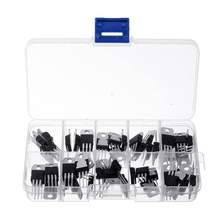 50 Pcs 10 waarden 5 Elke LM317T L7805 L7806 L7808 L7809 L7810 L7812 L7815 L7818 L7824 Transistor Assortiment Kit(China)