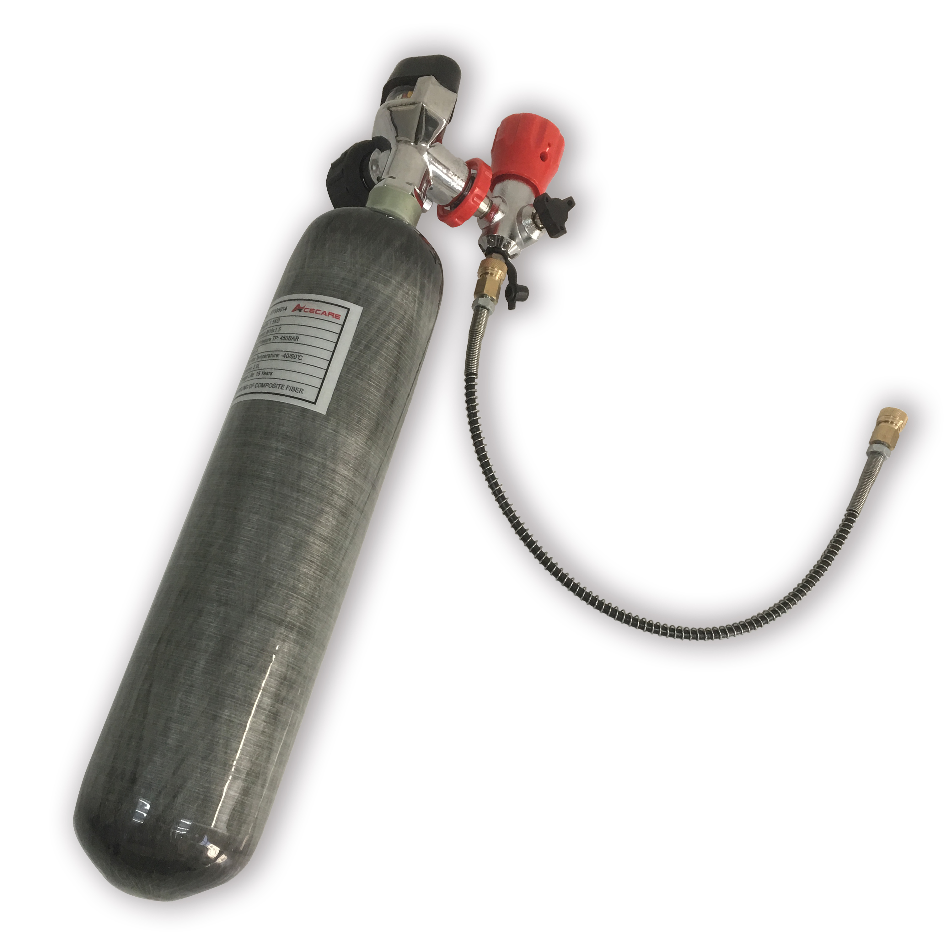 AC102201 Acecare 2L Paintball Co2 4500Psi Cylinder Pcp Air Rifle Compressed Air Tank Air Pellet Gun 300Bar Airforce Condor Pcp-M