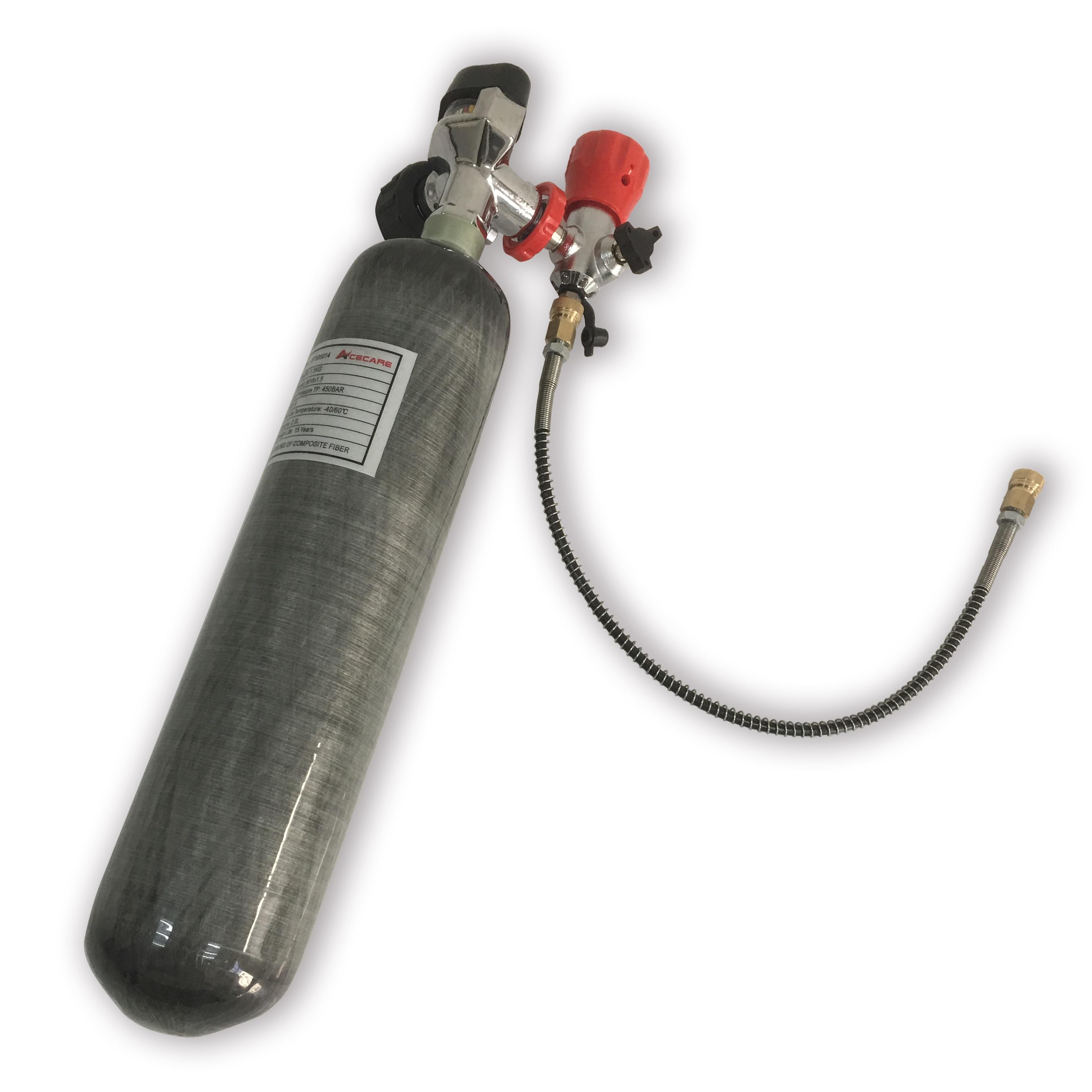 AC102201 Mini 2L 4500PSI 300Bar Carbon Fiber Cylinders PCP Gun Hunting Airsoft Gun Aur Rifle PCP Valve&Filling Station Acecare