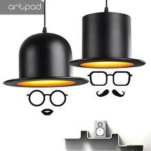 Artpad Hat Shape Modern Nordic Pendant Light With E27 Bulb Aluminium LED Lamp For Kitchen Coffee Bar Fixtures
