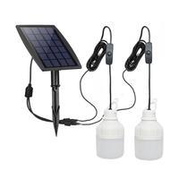 Solar 30W Bulbs Light Waterproof Outdoors Garden Yard Tent Lighting Lantern Lamp Cool White