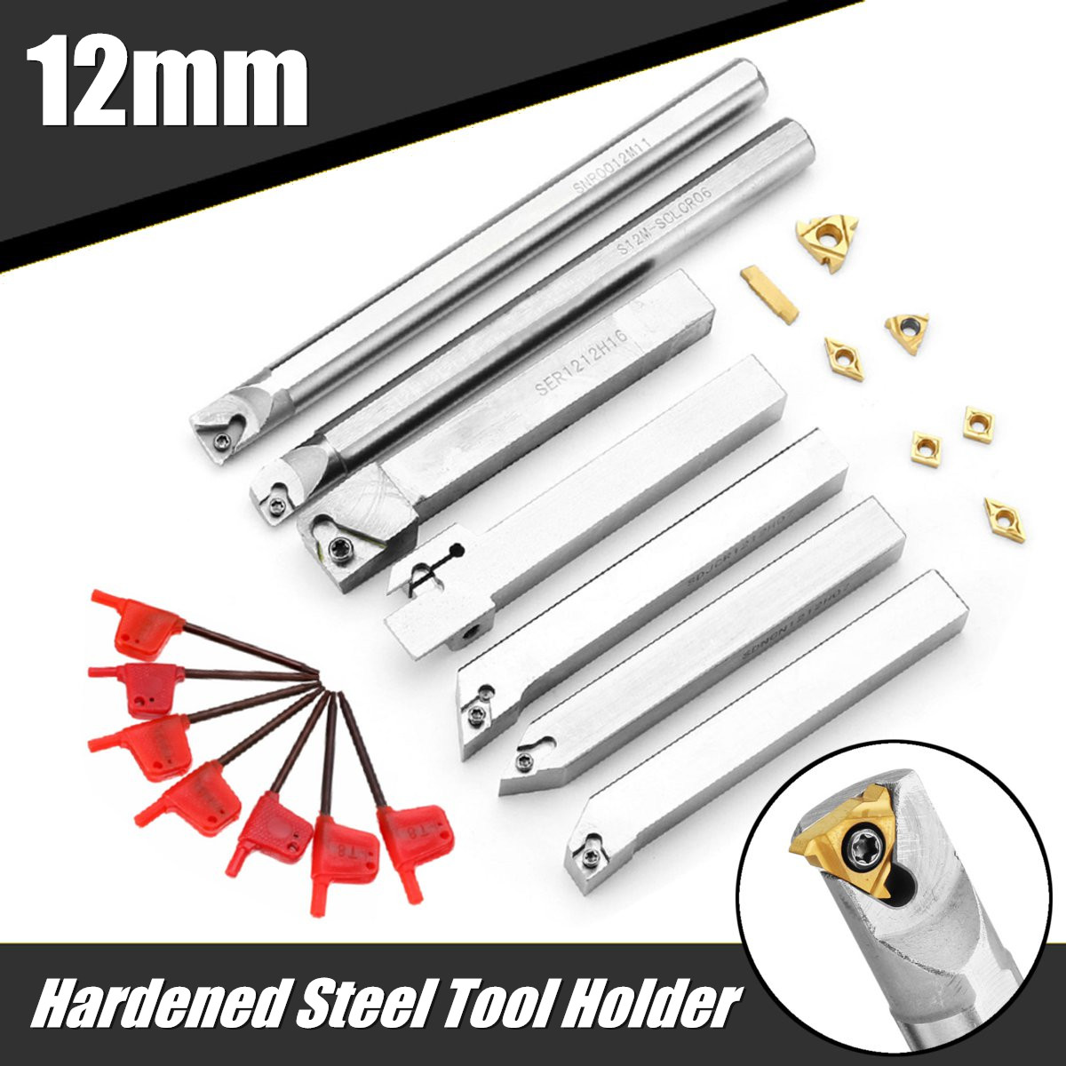 Carbide Inserts Diamond Shape hard alloy Blade woodworking Turning Tool 10pc set
