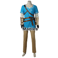 In Stock The Legend Of Zelda Breath Of The Wild Link Cosplay Costume Anime Uniform Halloween Adult Men Full Set Without Boots