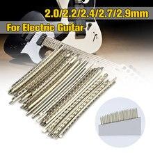 20-24 pçs/set 2.0/ 2.2/ 2.4/ 2.7/ 2.9mm para peças de baixo da guitarra & acessórios acústico traste fio de guitarra elétrica níquel-cobre allo
