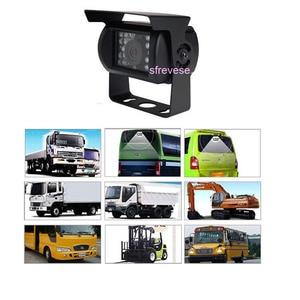 "Image 4 - 4x 18 IR Night Vision Car Reversing Parking Backup Camera + 9"" LCD 4CH Quad Split Monitor Car Rear View Kit for Bus Truck 12V 24"