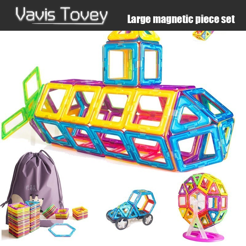 Vavis Tovey 30 200pcs Big Designer Blocks Building & Construction Toy Magnetic Tiles Game Educational Toys Children Gifts