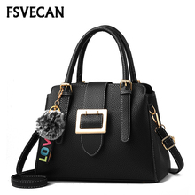 FSVECAN Women Bag Retro Ladies Hand Bags Female Fur Ball Anti Theft Shoulder Bag sac a main femme de marque luxe cuir 2018 New bags for women crossbody chain sac a main femme de marque luxe cuir 2018 woman leather luxury handbags women brands