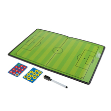 Football Coaching Board Foldable Strategy Teaching Clipboard Kit with Dry Eraser Marker Pen Magnets soccer coaching board strategy tactics clipboard football game match training plan accessories