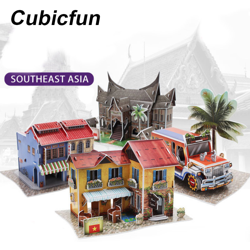 Toys & Hobbies Learned Cubicfun 3d Paper Toy Assemble Cardboard Model Southeast Asia House Building Kits Home Decoration Educational Toys For Children