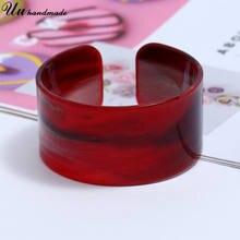 Акриловые браслеты широкие Открытый браслет очаровательные украшения