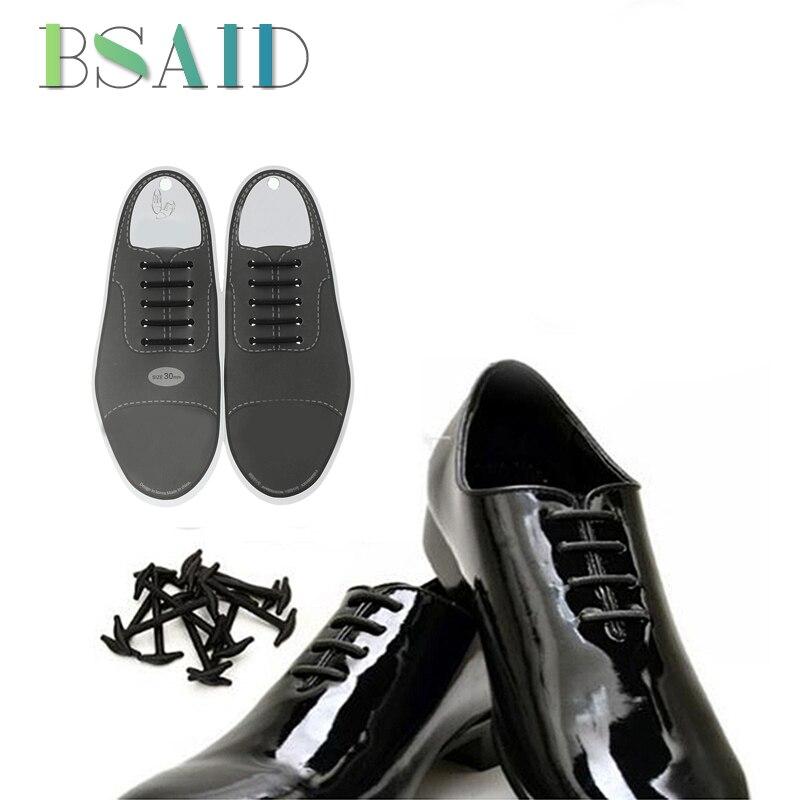 3c15a7b959d3 10pcs Set 4cm or 3cm No Tie Shoelaces New Novelty Elastic Silicone Leather Shoe  Laces