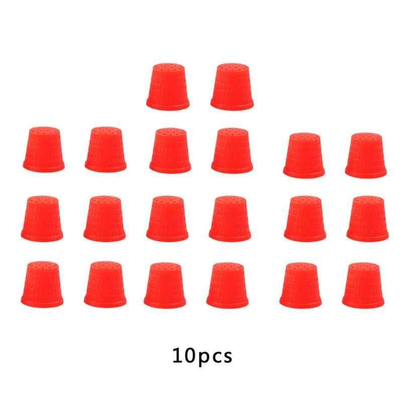 2PCS/10PCS Weiche Silikon Fingerhut Nähen Finger Protector Fingerhut Nadeln Partner Handwerk Haushalt DIY Nähen Zubehör