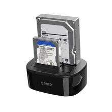 Orico 6228Us3 Usb 3,0 на Sata Dual-Bay жесткий диск Док-станция для 2,5/3,5 дюймов Hdd Ssd чехол с функцией офлайн клона