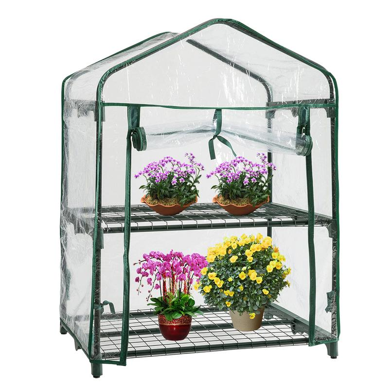 PVC Warm Garden 2 Tier Mini Household Plant Greenhouse Cover Waterproof Anti-UV Protect Plants Flowers Tools