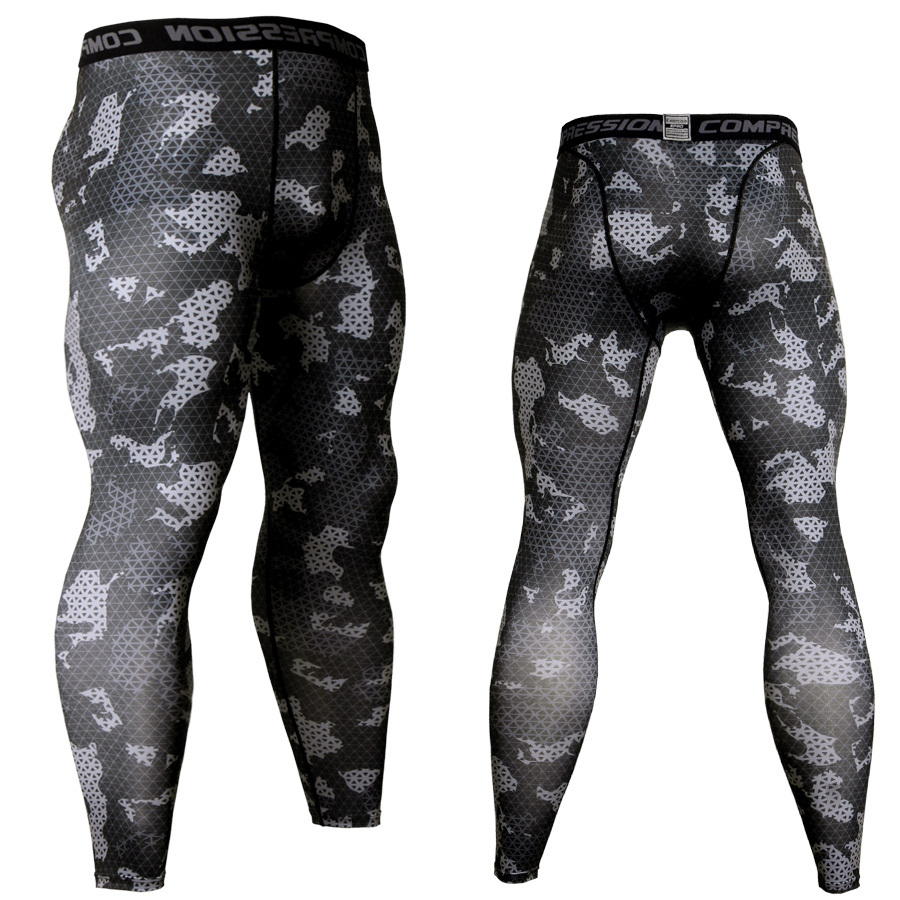 Men Camouflage Compression Pants Running Tights Soccer Training Pants Fitness Sport Leggings Gym Jogging Trousers Sportswear Men