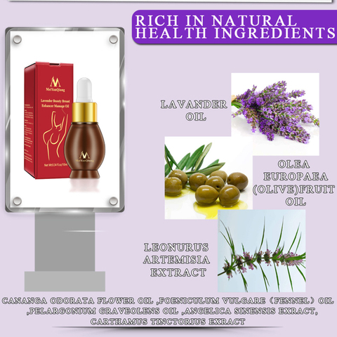 MeiYanQiong Natural Plant Breast Plump Essential Oil Breast Enhancer Treatment Massage Oil Lavender Breast Growth Essence TSLM1 Multan