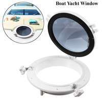 10 Inch RV Waterproof Skylight White Round Yacht Boat RV Car Porthole Industry Cars Replacement Window Portholes Accessories