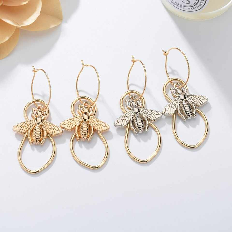 Women Trendy Cute Insect Bees Drop Earrings Cute And Romantic Girls Earring Female Hand Made Drop Earrings Jewelry Earrings