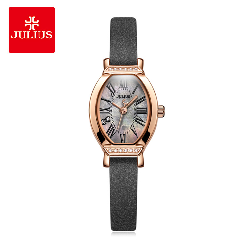 9aa166dccfb8 Julius Retro Lady Women Watch Luxury Rhinestone Quartz Ladies watches  Fashion Leather Bracelet Wristwatch Clock Relogio Feminino